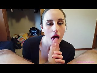 AnnieSux deepthroat training gagging n oral creampie )