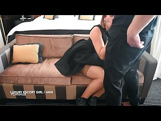 Slut with tight pussy fucked hard at hotel to eat my cum. Pov luxury escort