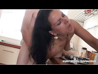 Black haired german mom fucked hard