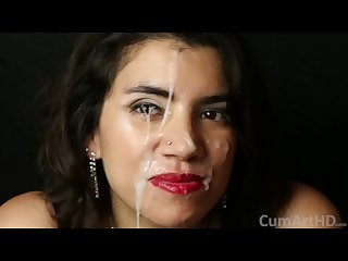 After party blowjob facial in Hd