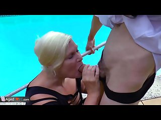 AgedLovE Lacey Starr Fucking Poolboy Hardcore