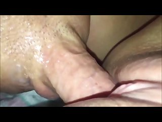 Penetrating her squirting pussy closeup
