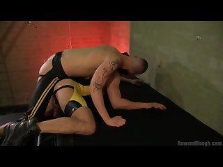 Leather skinheads rough bareback fuck