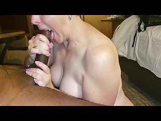 Wife gets a mouthful of her bbc husband S cum