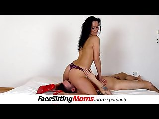 Hot stepmom nora face sitting a submissive boy