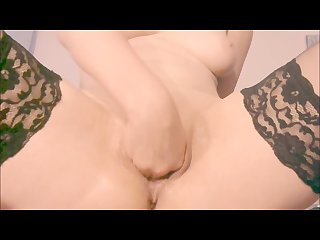 Intense Moaning orgasm dildo fucking and fisting juicy pussy