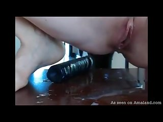 Super wet pussy up close