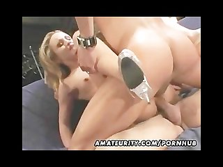 Amateur girlfriend homemade anal double penetration with cumshot