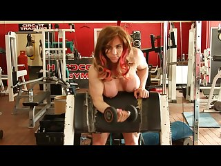Tabbyanne sexy muscle babe nude workout in liverpool hardcore gym public