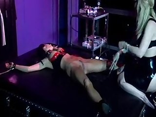 Nina hartley whips and pumps her slave