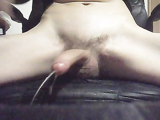 Playing with cock while anal plug exterme cumming