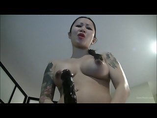 Strapon asian bitch