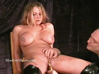Pussy torture and needle bdsm of tattooed busty milf Gina in extreme pain