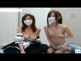 Two lesbian couple show her sex