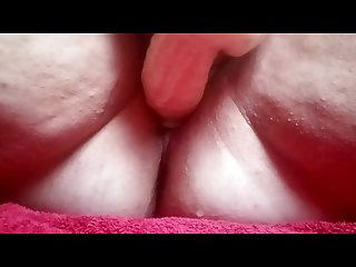 Fucking my huge dildo and squirting