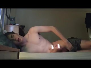 Promising a cumshot and some moaning