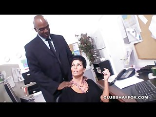 Hot MILF Shay Fox gets fucked hard by BBC on a Desk