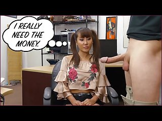 Xxxpawn desperate Chinese woman tiffany rain puts up with bs for money