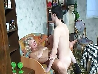 Son returns home from army and fuck horny step mother