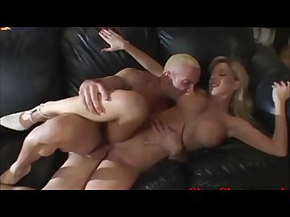 Cougar wife fucked by big tool while hubby looks