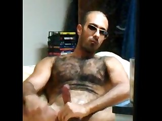 Arab blowing a big load all over my hairy body Arab Macho hairy hunk 2