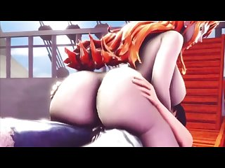 Big ass Nami fucked by Luffy HD (One Piece)