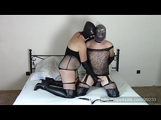 Couple in leather opera gloves part 2 Bagging