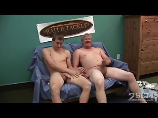 Father and son get naked