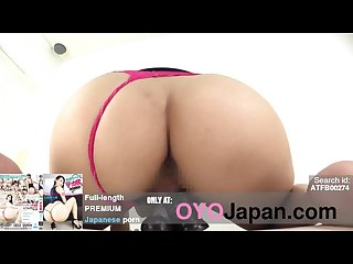 Amazing pov japanese milf riding black dildo huge booty with pink thong Hd