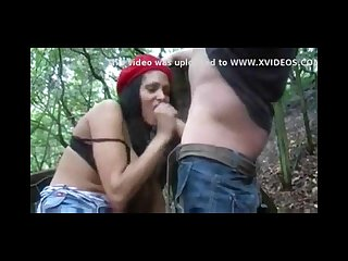 Hot indian fucks her new white boy freind in forest