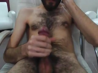 Hairy Turk shoots his cum