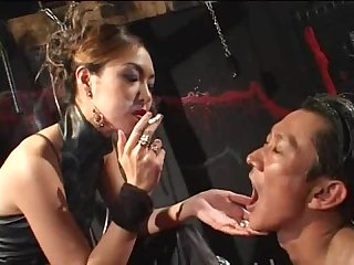 Smoking fetish slut