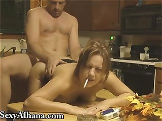 Kitchen table fucking smoking alhana winter vintage rottenstar