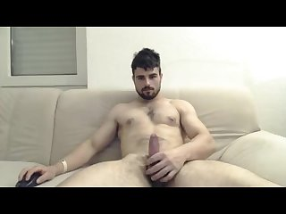 Hot guy cums and shows his hairy ass