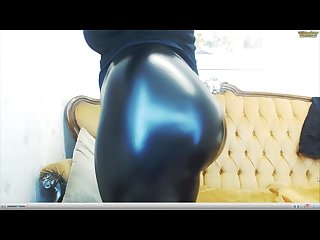 Chubby leather leggings