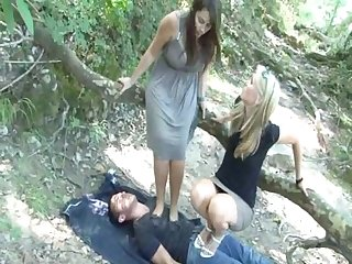 2 french women trampling