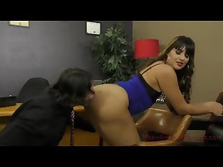 Mercedes carrera enslaves her lawyer ass worship facesitting