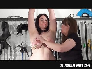 Lesbian Slavegirl alyss tortured by her mistress in hardcore bdsm session