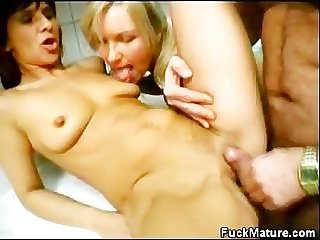 Hot matures threesome