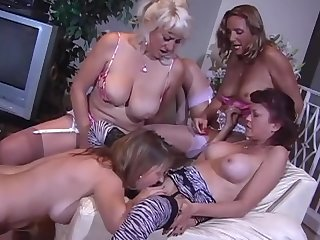 Dirty talking mature orgy
