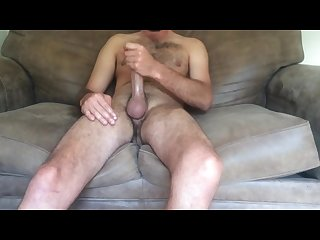 Sexy guy strokes his cock until he S cumming hard