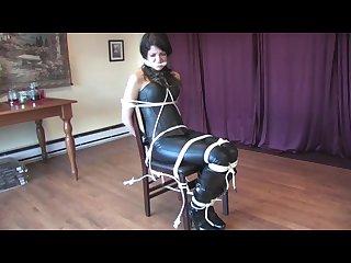Black suit woman