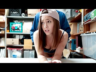 Shoplyfter petite red head gets caught