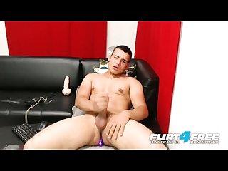 Federico lorza on flirt4free thick dicked Latino stud cums w vibrator