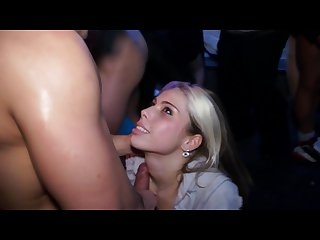 Party ladies getting sprayed with cum at an outragious cfnm party