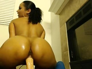 Mixed girl riding