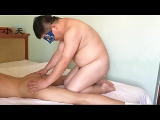 Crazy Chinese bear and boy threesome