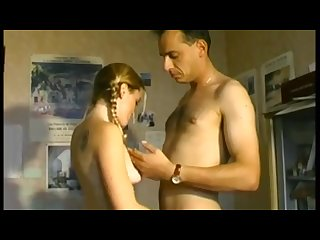 Cute french hairy teen is seduced by her tutor and loses her anal virginity