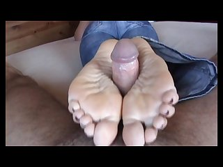 White mature solejob