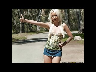 Stunning young blond Hitchhiker stevie shae is picked up fucked